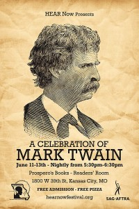 Hear Now Fest-Mark Twain Readings poster